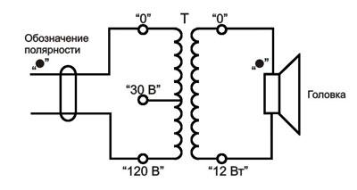 Громкоговоритель рупорный 12ГР-38 схема электрическая