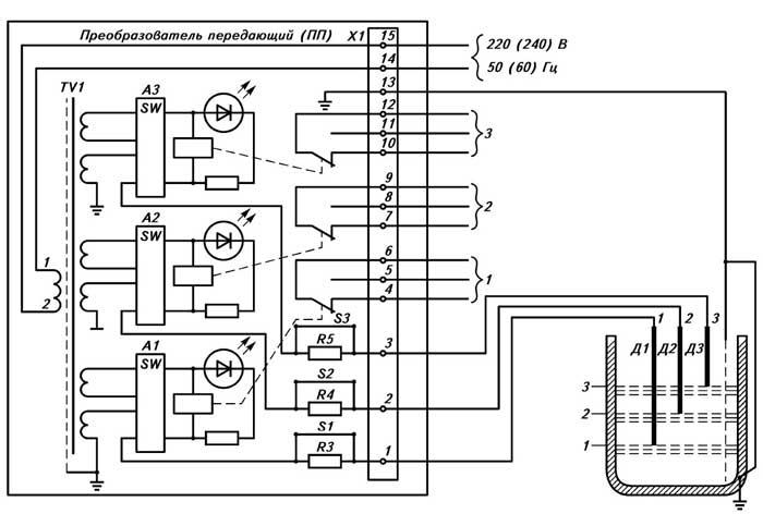 ...принципиальной схемы электронного преобразователя электрическая схема преобразователя датчика.